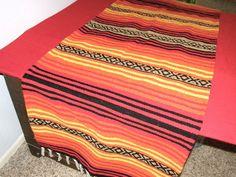 Hot Baja Orange Table Runner or Hot Rod by MangoTreeCreations Serape Fabric, Orange Table, Beach Blanket, Wool Blanket, Table Runners, Event Planning, Hot Rods, Buy And Sell, Handmade