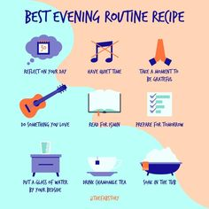 What is your bedtime routine? Having a consistent routine before bed can help you fall--and stay--asleep. Evening Routine, Night Routine, Bedtime Routine, Yoga Routine, Morning Habits, Morning Routines, Daily Routines, Self Care Activities, Self Improvement Tips