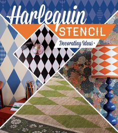 It's said that diamonds are a girl's best friend and we totally agree! That's why we are sharing 5 great DIY stencil ideas with Harlequin Diamond Pattern Stencils!