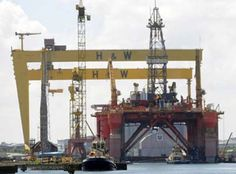 Big job on Blackford DOLPHIN drill platform at Harland & Wolff