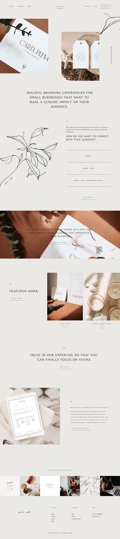 Home Page Design Viola Hill Studio organic, natural, minimal homepage web design built on squarespace by Viola Hill Studio Web Design Trends, Design Web, Layout Design, Homepage Design, Web Design Tutorials, Web Layout, Homepage Web, Graphic Design, Minimal Web Design
