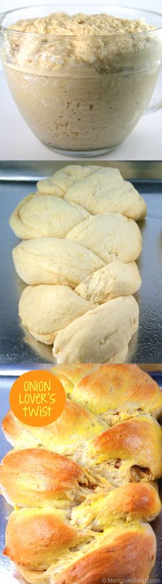 How to make Onion Lover's Twist - a braided yeast bread with tasty onion filling. #braidedbread (How To Baking Bread)