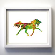 Watercolor Horse Art Print Animal Art Print by FancyPrintsforHome, $15.00