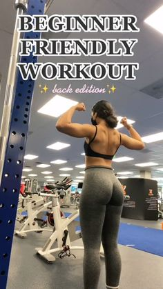 Gym Back Workout, Back Workout Routine, Back Workout Women, Workout Routines For Women, Gym Workouts Women, Beginner Back Workout, Gym Beginner Tips, Gym Routine Women, Planet Fitness Workout