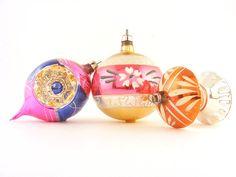 Christmas Ornaments Mercury Glass Hand Painted Poland. Available at: www.TidBitz.etsy.com, $18.00