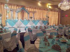 Beautiful Ocean themed Quinceanera. #Quinceaneras; #Venues; #Receptions