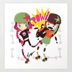 It's Roller Derby, sweetie! Art Print by Irene Dose - $13.52