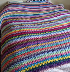giant granny afghan --I'd love to make one big enough for our bed.