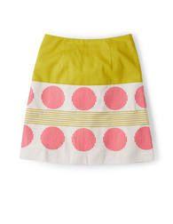 Lara Embroidered Skirt (Sherbet Lemon/Ivory/Soft Red)