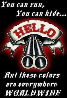 Colors are Worldwide Biker Clubs, Motorcycle Clubs, Outlaws Motorcycle Club, Angels Logo, Gangsta Girl, Biker Quotes, Harley Bikes, Hells Angels, Cool Bikes