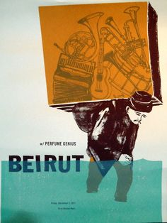 Beirut music gig posters | gig poster on Tumblr