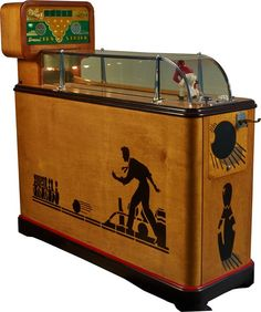 "5 Cent Evans ""Ten Strike"" Arcade Bowling Skill Game Machine, By H.C. Evans & Co., Chicago c1939-53"