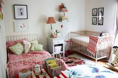 Matilda + Baby's Shared Room - bed and crib