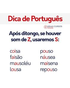 Dica de Língua Portuguesa! 📝 Gostou? Marque os amigos! 📌 . #concursopúblico #avagaésua #estudaqueavidamuda #todomundopode #eusougran… Portuguese Grammar, Portuguese Lessons, Portuguese Language, Learn Portuguese, Portuguese Food, Portuguese Recipes, Study Organization, Lettering Tutorial, How To Speak French