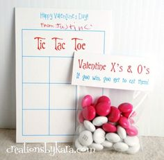 Tic Tac Toe Printable Valentine Game - this printable game is perfect for classroom Valentines!