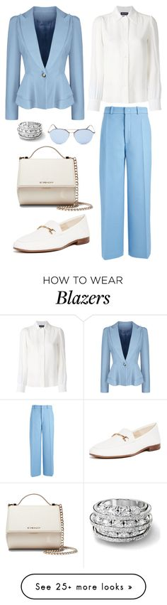 """Untitled #1634"" by rubysparks90 on Polyvore featuring WithChic, Vanessa Seward, Joseph, Sam Edelman, Givenchy and Ray-Ban"