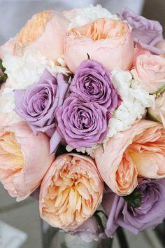 LOVE the purple Rose and peach Peony!!!