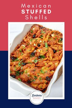 Shake up pasta night with this quick, easy, and flavorful Mexican Stuffed Shells recipe! You can even make it ahead of time and then just pop it in the oven whenever you're ready. #BarbaraBakes #mexicanpastarecipe #easystuffedshells Mexican Pasta Recipes, Best Pasta Recipes, Delicious Dinner Recipes, Delicious Food, Mexican Stuffed Shells, Stuffed Shells Recipe, Weeknight Meals, Quick Meals, Healthy Meat Recipes