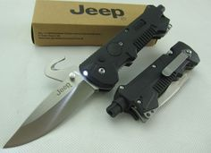 Jeep MultiTools Folding Knife LED Flashlight, Canada Knives and Swords