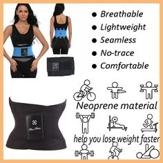 FuzWeb:Shapewear Hot Power Belt Corset Fitness Tummy Trimmer Slimming Wrap Neoprene Waist trainer Body Shaper Fashion for Women Men Killer Ab Workouts, Flat Abs Workout, Workout Belt, Tummy Workout, Help Losing Weight, How To Lose Weight Fast, Corset Waist Belt, Workout Bauch, Fitness