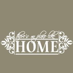 SweetumsWallDecals No Place like Home Wall Decal Color: White