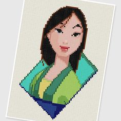 PDF Cross Stitch pattern  0214.Mulan  INSTANT DOWNLOAD by PIXcross
