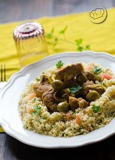 Receta de Tajine de cordero con cous cous. Lamb tahine and cous cous