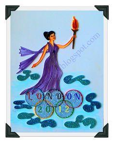 Stunning quilled tribute.  2012 Olimpics