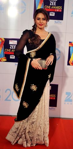 Bollywood celebrity Huma Qureshi wearing sabyasachi saree