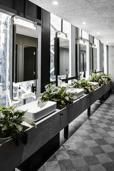- It's possible to create a playful bathroom interior with different colours. Washroom Design, Bathroom Design Layout, Best Bathroom Designs, Modern Bathroom Design, Bathroom Interior Design, Home Interior, Interior Architecture, Minimal Bathroom, Tile Layout