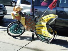 20 DIY Ways To Pimp Your Bike   Hotter Than Heck Utah Valley Century     Bike Decorated to Look Like a Fish    San Francisco Pier Area