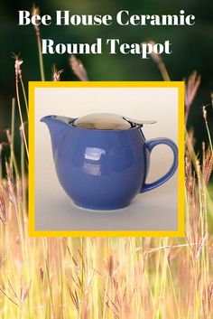 Bee House Ceramic Round Teapot is ideal for tea for one or two; with removable stainless steel mesh infuser. Share a tea time with your mom this May! #mothersday.
