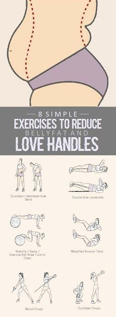 8 Simple Exercises To Reduce Belly Fat And Love Handles