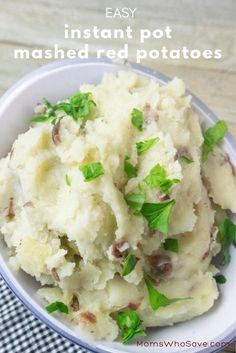 Easy Instant Pot Mashed Red Potatoes | MomsWhoSave.com #recipes #instantpot #instantpotrecipes #sidedishes