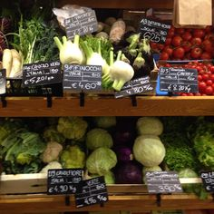 Beautiful organic vege in Milan