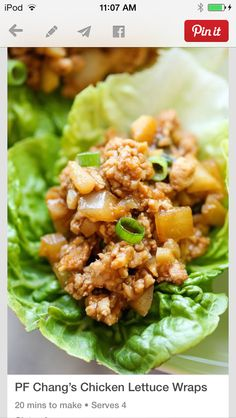 Healthy Wraps For Lunch, Work Or Home. Its The Perfect Meal For Breakfast, Lunch or Dinner Or As A Snack. Great To Maintain A Healthy Diet. Clean Eating, Healthy Eating, Healthy Lunches, Healthy Food, Healthy Protein, Healthy Chicken, Healthy Cooking, Pf Changs Lettuce Wraps, Thai Lettuce Wraps