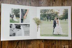 Queensberry Wedding Album | Overlay Matted | by Michelle Lange Photography #weddingalbum