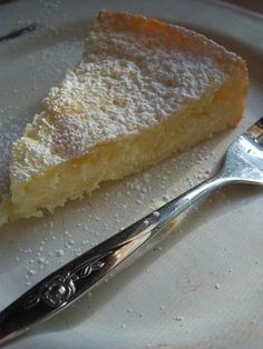 Lemony Cream Butter Cake...light lemony cream cheese filling and soft butter cake bottom!