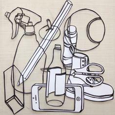 Fine art sculpture workshop Object Drawing, Line Drawing, Cubist Sculpture, Michael Craig, High School Art Projects, Gcse Art Sketchbook, Still Life Drawing, Art Curriculum, A Level Art