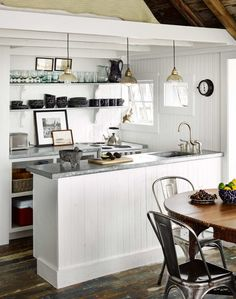 **1** Kitchen...under the loft bedroom Beach Shack Living on a Pier in Provincetown, Cape Cod, MA