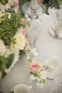 Classical English wedding at the beautiful Le Talbooth Marquee in Dedham, Essex. Marquee Wedding, Wedding Gallery, Glass Vase, English, Table Decorations, Flowers, Image, Beautiful, English Language