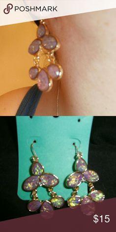 Pink mystic opal look earrings- hypoallergenic HP! Flirty pink earrings look like pink mystic opal!  Hypoallergenic! Weekend Wanderlust HP 8/06! Jewelry Earrings