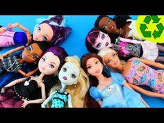 Manualidades para muñecas: Cómo hacer la joyería para muñecas: collares, pulseras y pendientes - YouTube