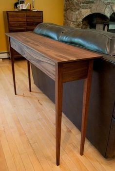 Here's a Sofa Table I just made to match the end table I made a few weeks ago. It's made of Black Walnut. Walnut Furniture, Diy Furniture Plans, Woodworking Furniture, Furniture Design, Entry Tables, Sofa Tables, Table And Chairs, Console Table, Shaker Style Furniture