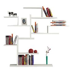 Decortie - Bonsai Bookcase, White - A fabulous and individual statement piece for a contemporary interior, the Bonsai Bookcase resembles the famous Bonsai tree with an intricate pattern for shelving space, it is a fabulous statement piece for the living room and is perfect for storing books, CD�۪s and DVD�۪s.found on houzz.com