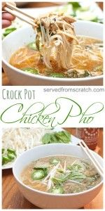 Pot Chicken Pho Let your Crock Pot do all the work to create this classic Vietnamese Chicken Pho at home, From Scratch!Let your Crock Pot do all the work to create this classic Vietnamese Chicken Pho at home, From Scratch! Crock Pot Slow Cooker, Crock Pot Cooking, Slow Cooker Recipes, Beef Recipes, Chicken Recipes, Cooking Recipes, Healthy Recipes, Crockpot Meals, Pho Soup Recipe Chicken