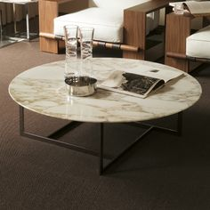Porada Londra large round coffee table by Opera Design