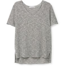 Flecked T-Shirt ($26) ❤ liked on Polyvore featuring tops, t-shirts, v neck tee, short sleeve tee, short sleeve t shirt, short sleeve tops and mango t shirt