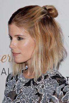 ClioMakeUp-acconciature-facili-veloci-capelli-corti-coda-caschetto-Kate-Mara
