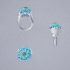 Bubble tea Ring #ring#jewel#jewelry#highjewelry#jewelryart#jewelryrendering#jewelrydesign#design#gouache#gouachepainting#bubbles#gemstones#greenandblue#saphir#diamonds#cocktailring#summer#goodvibes#inspiration#creation#ersonalwork#workoftheday#picoftheday